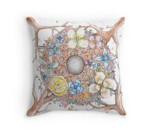 nesting wedding ring cushion  Throw Pillow