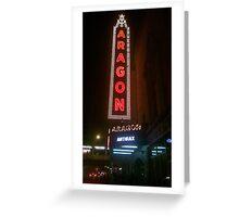 Aragon Ballroom Anthrax Greeting Card