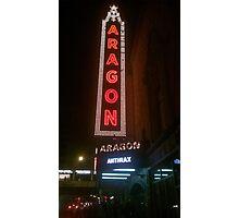 Aragon Ballroom Anthrax Photographic Print