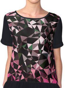 Pink Black Vector Triangle Design  Chiffon Top