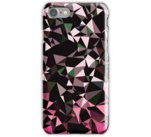 Pink Black Vector Triangle Design  iPhone Case/Skin
