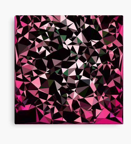 Pink Black Vector Triangle Design  Canvas Print