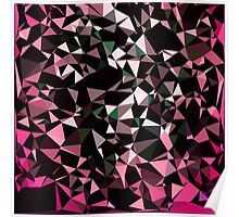 Pink Black Vector Triangle Design  Poster