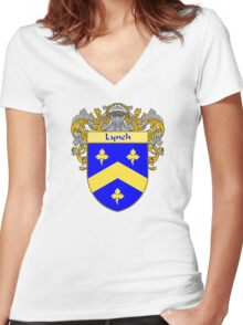 Lynch Coat of Arms/Family Crest Women's Fitted V-Neck T-Shirt