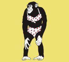 Monkey Girly One Piece - Short Sleeve
