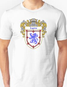 Lyons Coat of Arms/Family Crest Unisex T-Shirt
