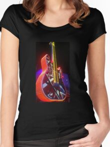 Rock n Roll Guitar  Women's Fitted Scoop T-Shirt