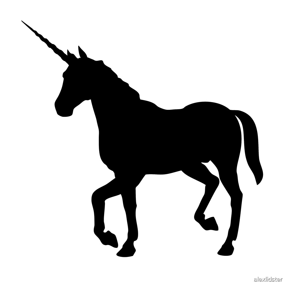 Quot Black Unicorn Silhouette Quot By Alexlidster Redbubble