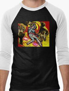 Space zombie graphic novel design Men's Baseball ¾ T-Shirt