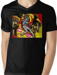 Space zombie graphic novel design Mens V-Neck T-Shirt