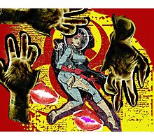 Space zombie graphic novel design Photographic Print