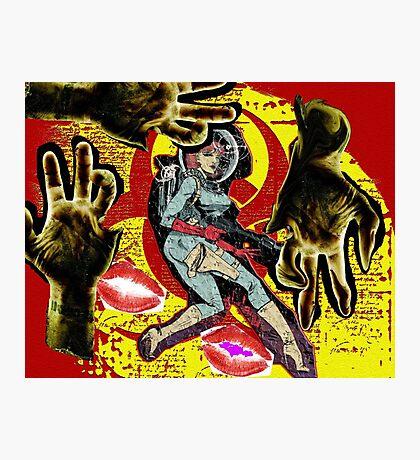 Space zombie graphic novel design Photographic Print
