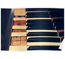 Old Piano Keys Poster