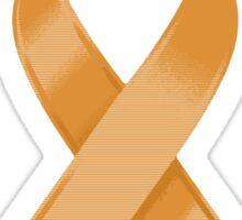 Orange Awareness Ribbon of Support Sticker
