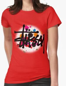 special STUSSY brush colors Womens Fitted T-Shirt