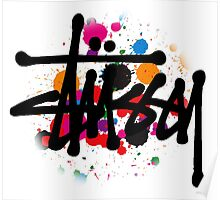 special STUSSY brush colors Poster