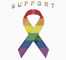 Gay Pride Awareness Ribbon of Support Kids Clothes