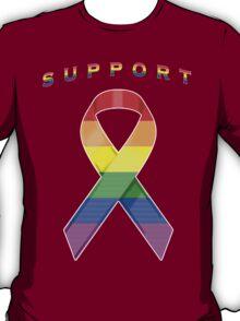 Gay Pride Awareness Ribbon of Support T-Shirt
