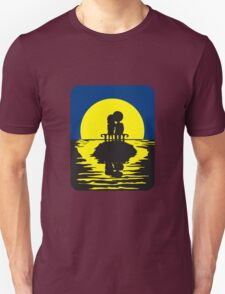 full moon love couple romance island bench Unisex T-Shirt