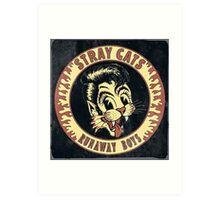 Stray Cats  (Runaway Boys) Vintage Art Print