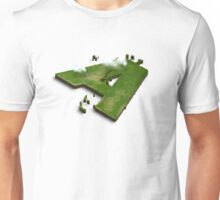 Capital A Letter island in the middle of the sea Unisex T-Shirt
