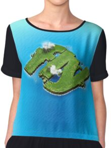 fly word for tourism travel island in the middle of the sea Chiffon Top