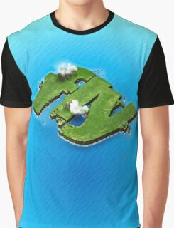 fly word for tourism travel island in the middle of the sea Graphic T-Shirt