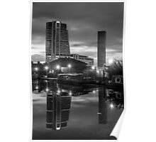 Leeds Waterfront Monochrome Image Poster
