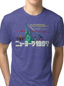 1997. New York City is now a maximum security prison. Breaking out is impossible. Breaking in is insane. Tri-blend T-Shirt