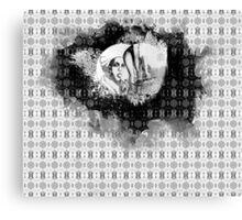 girl & skeleton patterns IV Canvas Print