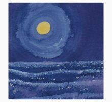 Night Surf original painting Kids Tee