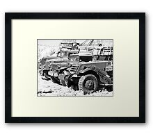 Heavy metal trucks Framed Print