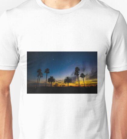 Sunset over the Palms Tress Unisex T-Shirt
