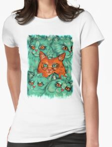 Kitty Madness Womens Fitted T-Shirt