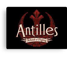Antilles School of Flying (Dark) Canvas Print