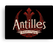Antilles School of Flying (Dark) Canvas Print
