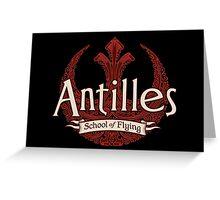 Antilles School of Flying (Dark) Greeting Card