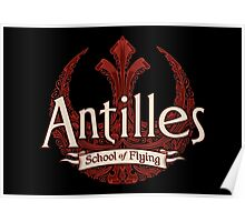 Antilles School of Flying (Dark) Poster
