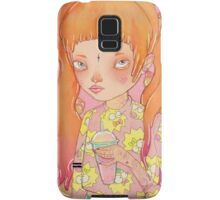 Orange Fluffy Samsung Galaxy Case/Skin