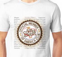 Coffee Lovers of America Club by Jeronimo Rubio 2016 Unisex T-Shirt