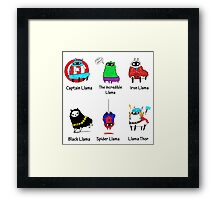 The LlamAvengers Framed Print