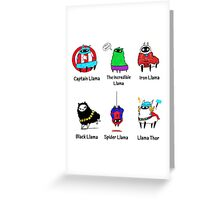 The LlamAvengers Greeting Card