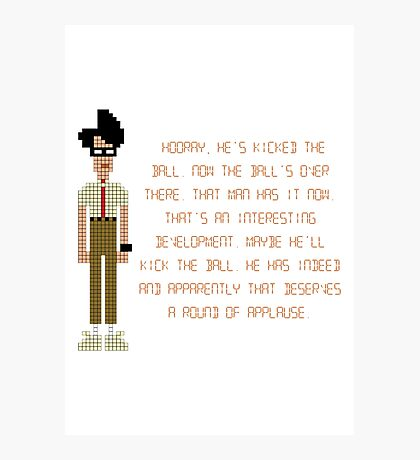 The IT Crowd – Moss at the Football Photographic Print