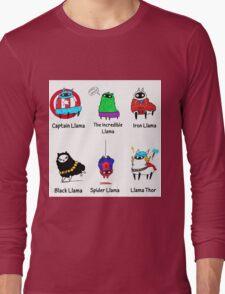The LlamAvengers Long Sleeve T-Shirt
