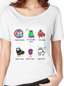 The LlamAvengers Women's Relaxed Fit T-Shirt