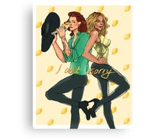 Two queens in yellow beyonce harry Canvas Print