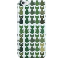 Multiple Green Cats Design Phone Cover iPhone Case/Skin