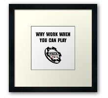 Play Poker Framed Print