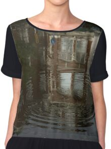 Raindrops, Ripples and Fabulous Reflections of Amsterdam Canal Houses Chiffon Top