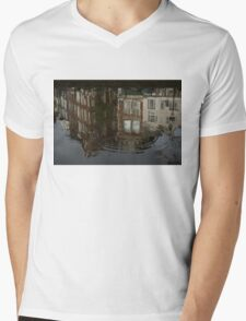 Raindrops, Ripples and Fabulous Reflections of Amsterdam Canal Houses Mens V-Neck T-Shirt